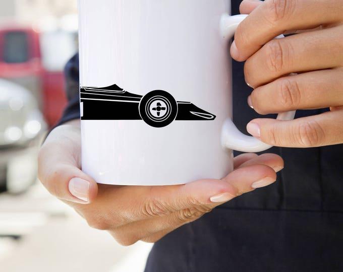 KillerBeeMoto:    Limited Release Formula 5000 Style Race Car Coffee Mug (White)