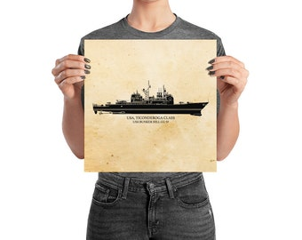 KillerBeeMoto: Ticonderoga Class Cruiser Vessel Print With Custom Vessel Name Option