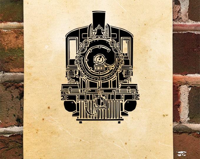 KillerBeeMoto: Vintage Steam Engine Train Locomotive Print