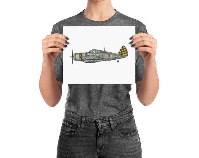 KillerBeeMoto: Limited Print P-47 Thunderbolt Aircraft Print 1 of 50