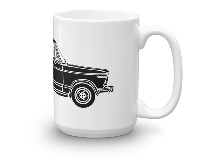 KillerBeeMoto: Limited Release Vintage German 2002 New Class Sports Car Illustration On A Coffee Mug