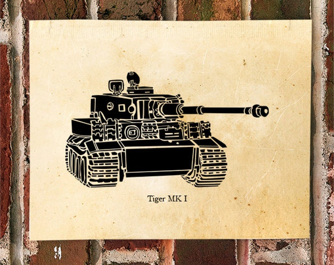 KillerBeeMoto: Limited Print of A German World War Two Tiger Tank MK 1 of 50 Print