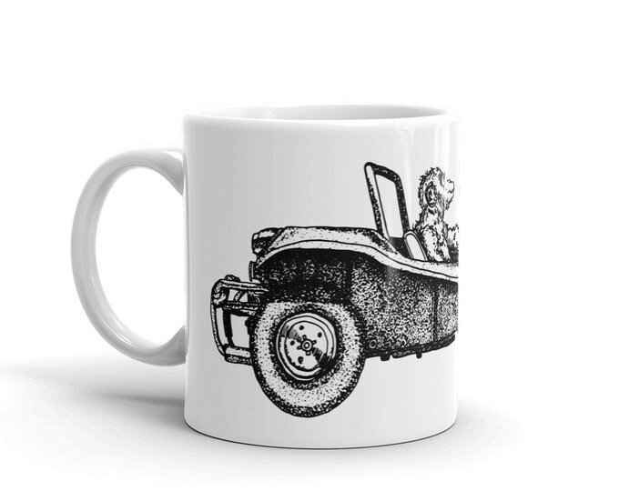 KillerBeeMoto:   Coffee Mug Chimpanzee Monkey Driving a Dune Buggy