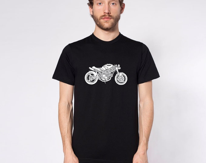 "KillerBeeMoto: Limited Release MotoLady's Custom Cafe Racer ""PANDORA"" Motorcycle T-Shirt"