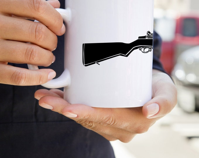 KillerBeeMoto:    M1 Garand World War Two Rifle On A Coffee Mug