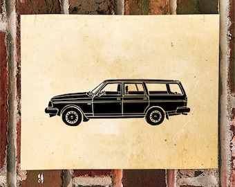 KillerBeeMoto: Limited Print Vintage Station Wagon Automotive Print Print 1 of 50