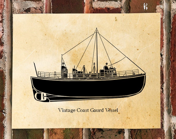 KillerBeeMoto: Vintage Coast Guard Vessel Print