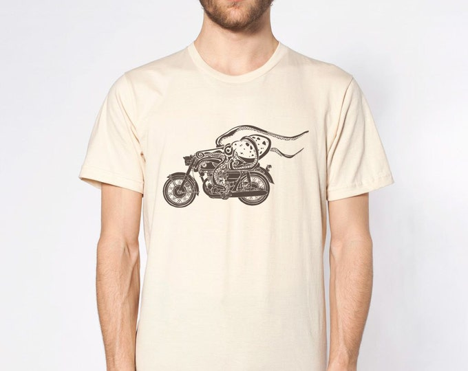 KillerBeeMoto: Octopus On Cafe Racer Motorcycle Motorcycle T-Shirt