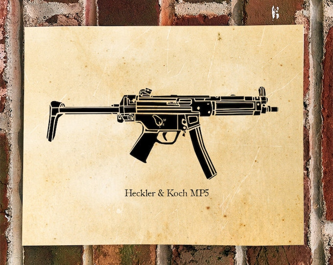 KillerBeeMoto: Limited Print Submachine Gun Print