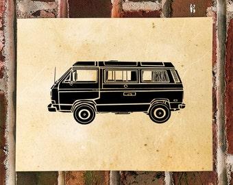 KillerBeeMoto: Limited Print Vintage Camper Westfalia Van