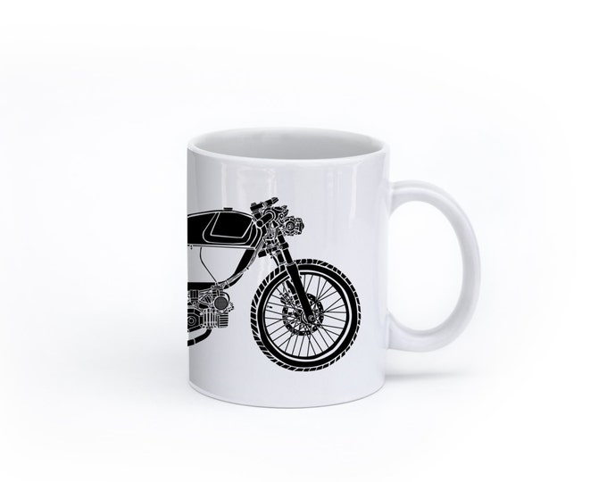 KillerBeeMoto:   Coffee Mug  Rogue Builds Moped Cafe Racer Coffee Mug (White)