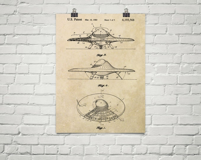 KillerBeeMoto: Duplicate of Original U.S. Patent Drawing For Vintage Flying Saucer