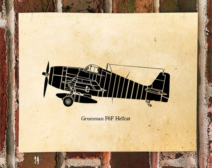 KillerBeeMoto: Limited Print F6F Hellcat Carrier Based Fighter Aircraft 1 of 50