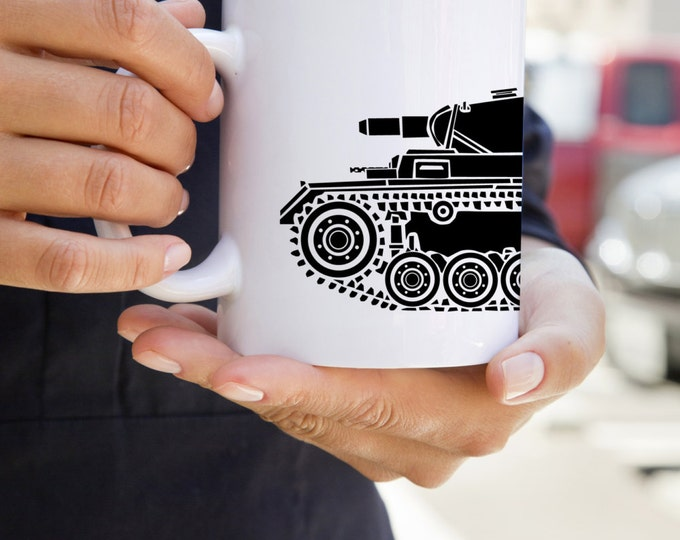 KillerBeeMoto:    World War 2 German Panzer III Tank Mug (White)