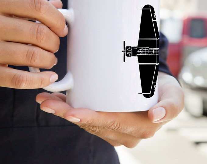KillerBeeMoto: SBD Dauntless Aircraft On A White Coffee Mug