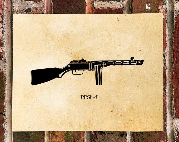 KillerBeeMoto: Limited Print PPSh-41 Soviet Machine Gun Print