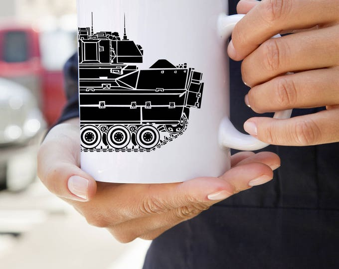 KillerBeeMoto:   Coffee Mug  With M2 Bradley Fighting Vehicle