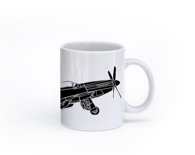 KillerBeeMoto:   P-51 Mustang Fighter Plane Coffee Mug