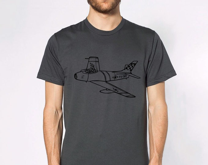 KillerBeeMoto: F-86 Sabre Jet Aircraft Short And Long Sleeve Shirt Cartoon Version