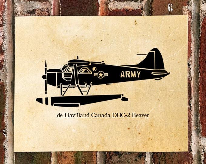 KillerBeeMoto: Limited Print de Havilland Canada DHC-2 Beaver Plane
