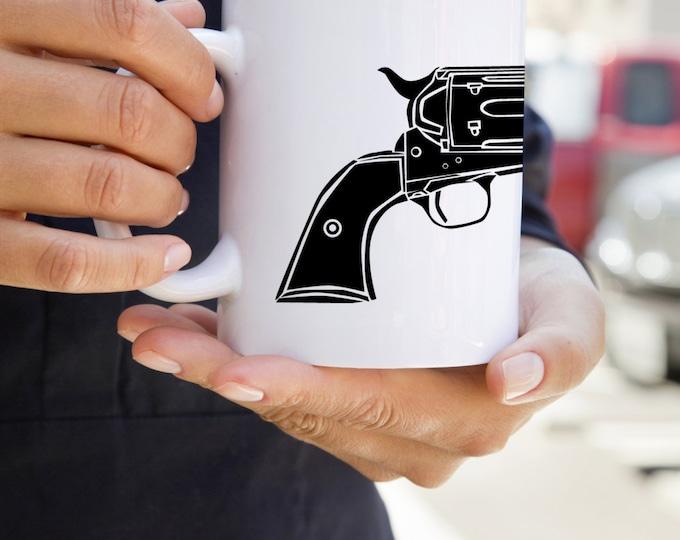 KillerBeeMoto:    Vintage Colt Single Action Army Pistol On A Coffee Mug