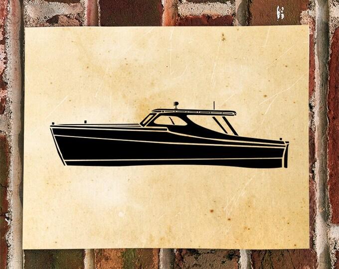 KillerBeeMoto: Vintage Fishing Boat Limited Print