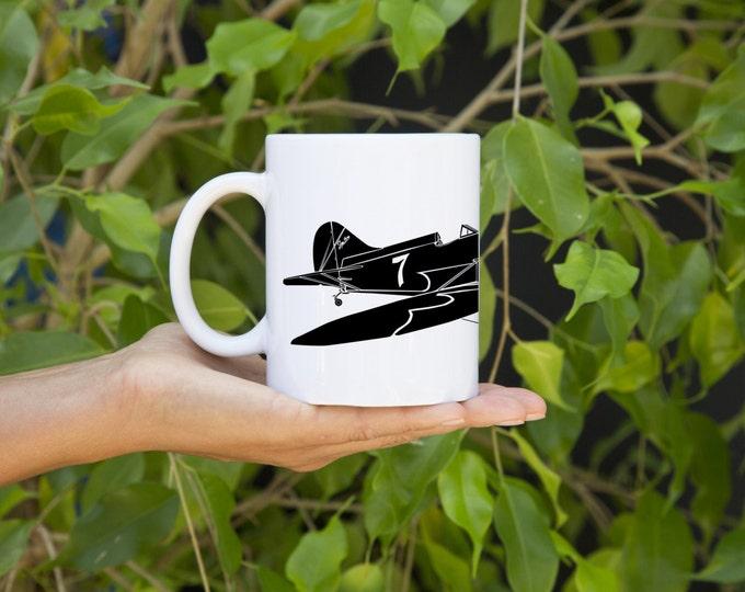 KillerBeeMoto:   Coffee Mug Gee Bee Senior Sportster Racing Plane Mug (White)