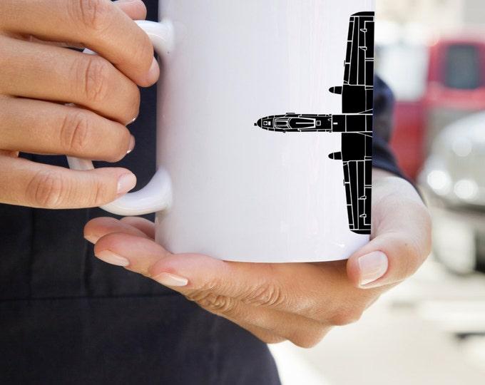 KillerBeeMoto:    A10 Thunderbolt (Warthog) Plane Mug (White)