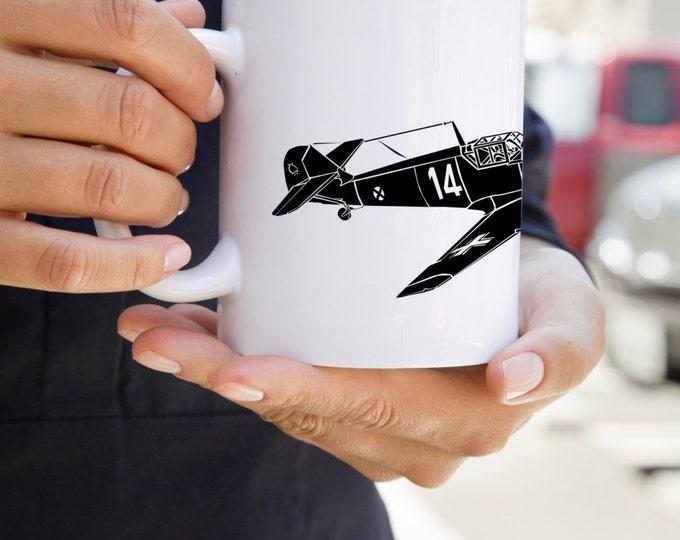 KillerBeeMoto: Coffee Mug Bf 109 Fighter Plane Coffee Mug (White)