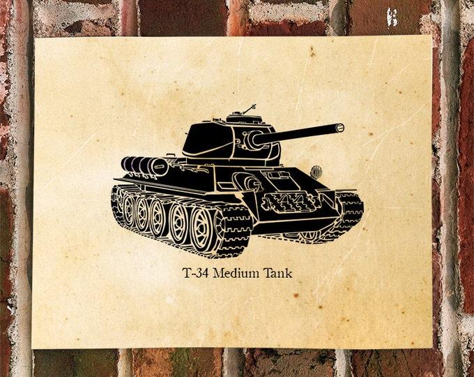 KillerBeeMoto: Limited Print of A Soviet World War Two T-34 Tank 1 of 100 Print