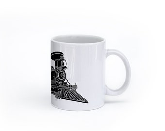 KillerBeeMoto:    Train Locomotive CPR Steam Engine No 374 Coffee Mug (White)