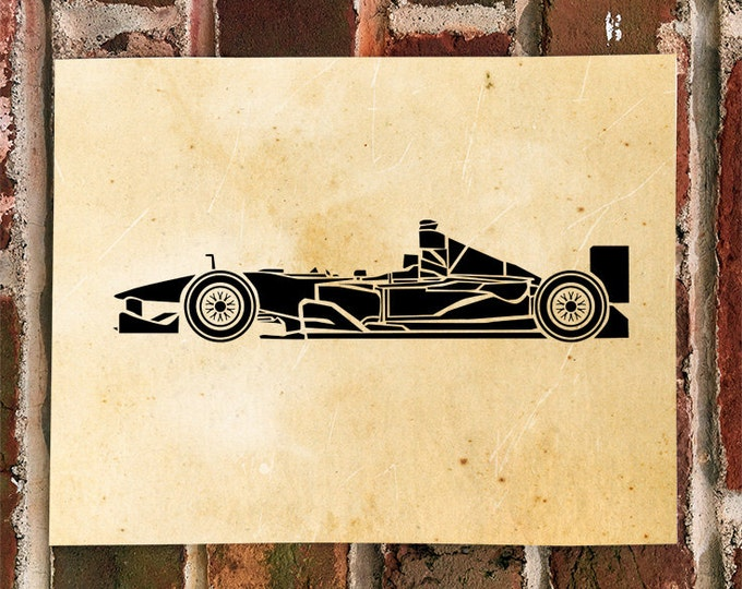 KillerBeeMoto: Limited Print Formula 1 Race Car Automotive Print Print 1 of 100