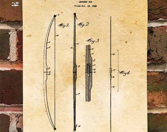 KillerBeeMoto: Duplicate of Original U.S. Patent Drawing For Vintage Archery Bow