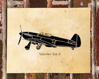 KillerBeeMoto: Limited Print Yakovlev Yak-3 Russian Fighter Aircraft Print 1 of 50
