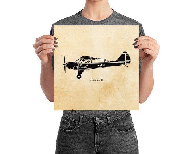 KillerBeeMoto: Limited Print Piper YL-14 Reconnaissance Aircraft Print 1 of 100
