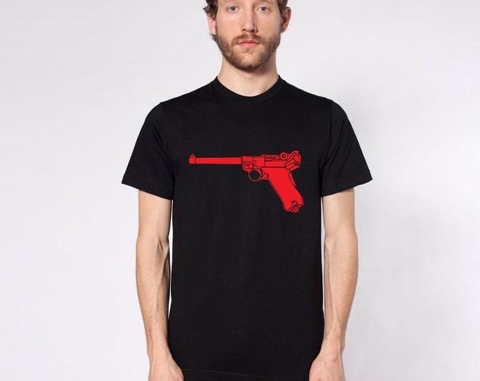 KillerBeeMoto: Limited Release Vintage German Luger 9MM Pistol On Short or Long Sleeve T-Shirt