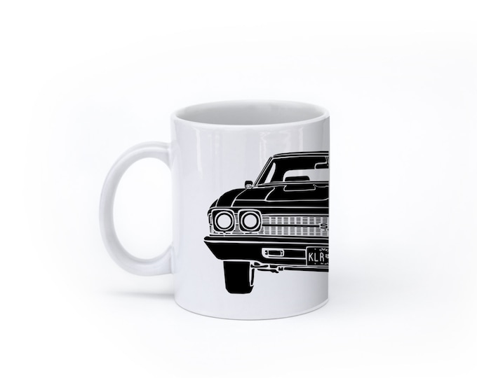KillerBeeMoto:    Coffee Mug Limited Release American Engineered Muscle Car Hot Rod Front View Coffee Mug (White)