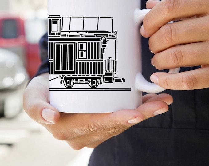 KillerBeeMoto:    Train Caboose On A Coffee Mug