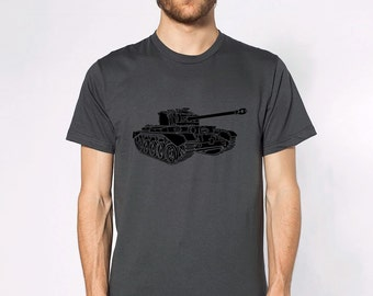 KillerBeeMoto: British Comet I (A34) Battle Tank T-Shirt Short & Long Sleeve