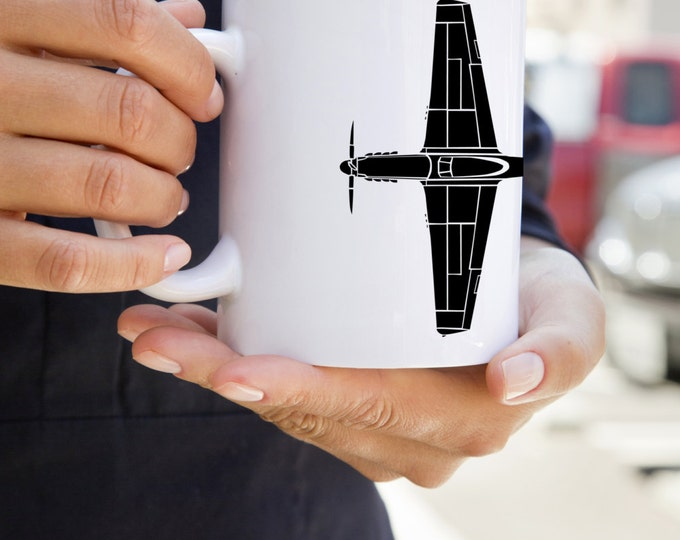KillerBeeMoto:  Coffee Mug P-51 Mustang Fighter Plane