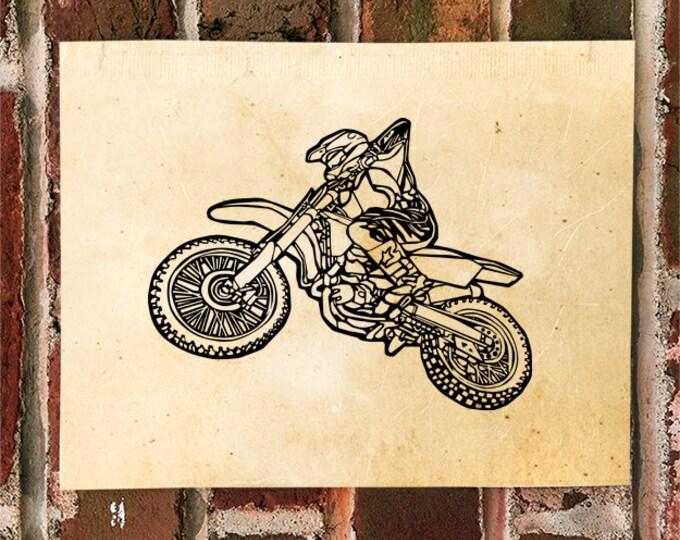 KillerBeeMoto: Limited Print Motorcycle Dirt Bike Rider