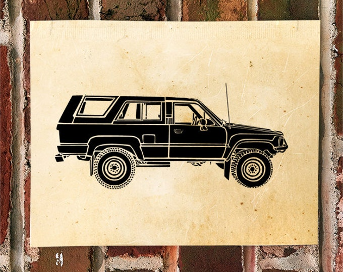 KillerBeeMoto: Limited Print Vintage Japanese SUV Truck Automotive Print Print 1 of 50