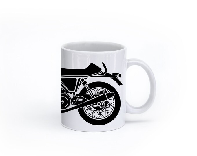 KillerBeeMoto:    Coffee Mug Limited Release Cafe Racer Motorcycle Mug (White)