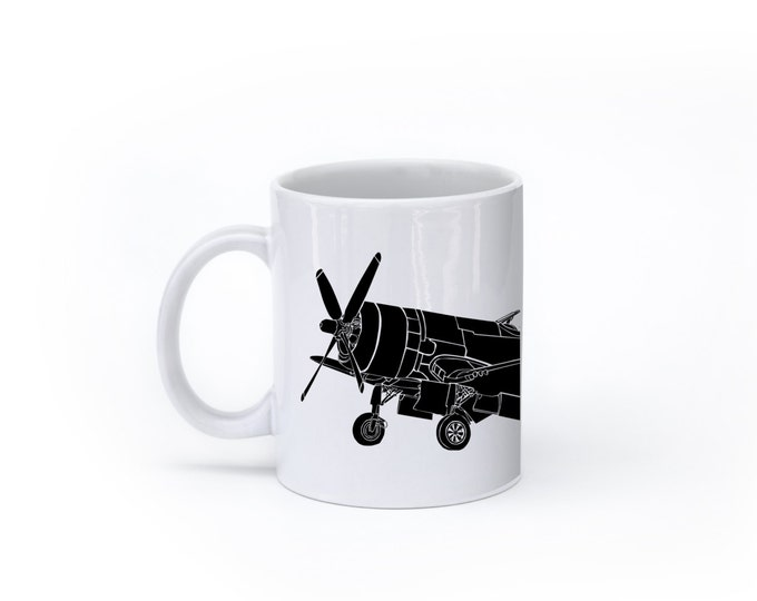 KillerBeeMoto:   F4U Corsair Fighter Plane Coffee Mug