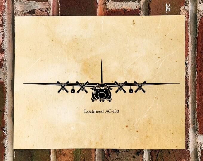 KillerBeeMoto: Illustration of AC-130 Transport Aircraft