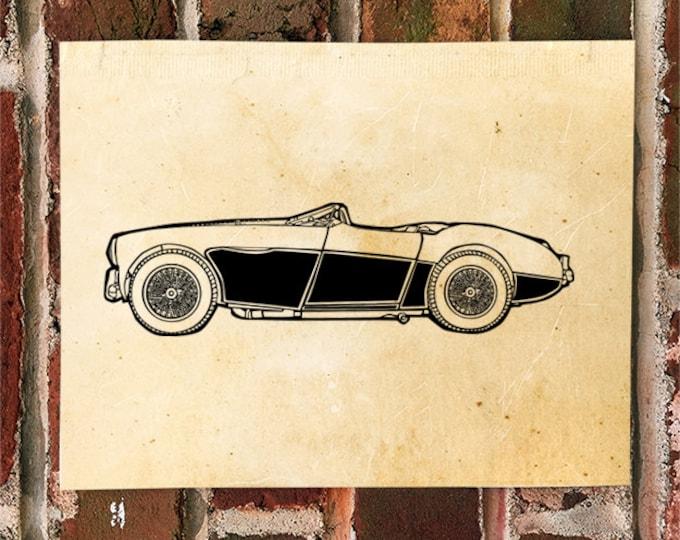 KillerBeeMoto: Limited Print Austin Healey 100 Automotive Print 1 of 50