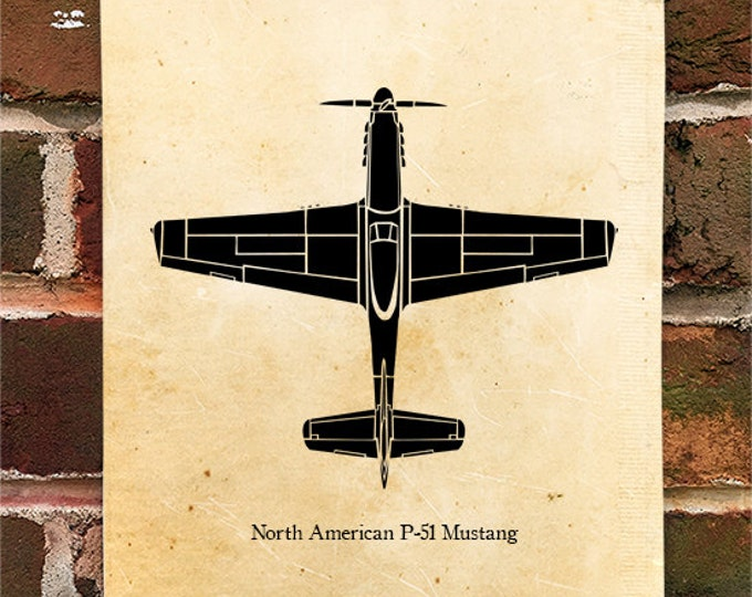 KillerBeeMoto: Limited Print P-51 Mustang Fighter Aircraft Top View Print 1 of 50
