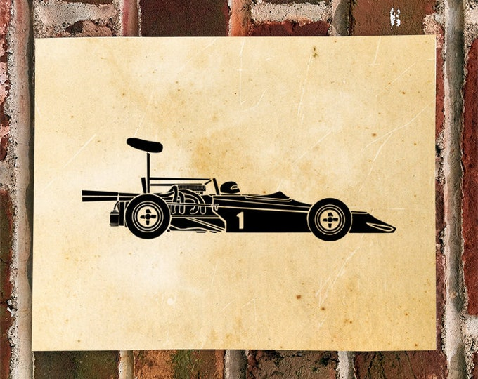 KillerBeeMoto: Limited Print Vintage Formula 5000 Race Car Automotive Print Print 1 of 100