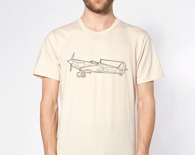KillerBeeMoto: Spitfire Fighter Aircraft  Short & Long Sleeve Shirt Cartoon Style
