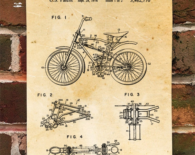 KillerBeeMoto: Duplicate of Original U.S. Patent BMX Bike